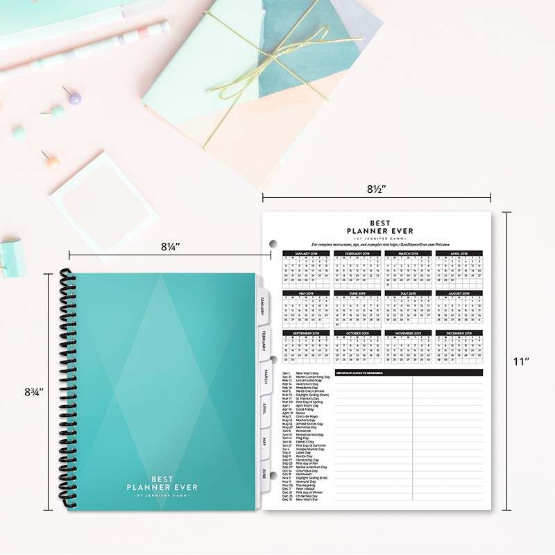 2019 Best Planner Ever 85 x 11 Large Format Best Planner Ever by