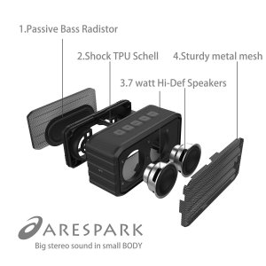 Arespark Outdoor Portable Bluetooth Speaker