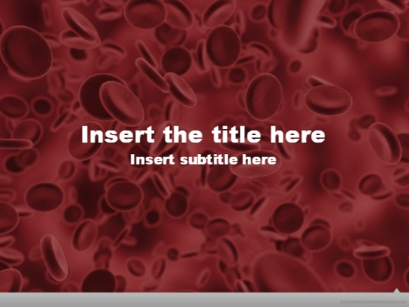 free red blood cell powerpoint template