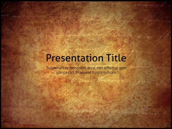 Vintage PowerPoint template - FREE!