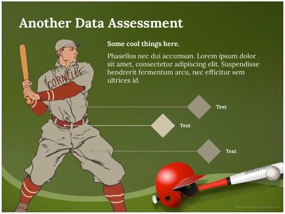 Baseball PowerPoint template - FREE!