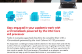 Education Tasks Took Less Time with a Chromebook Powered by an Intel…
