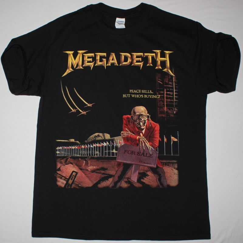 MEGADETH PEACE SELLS BUT WHO\u0027S BUYING1986 DAVE MUSTAINE NEW BLACK