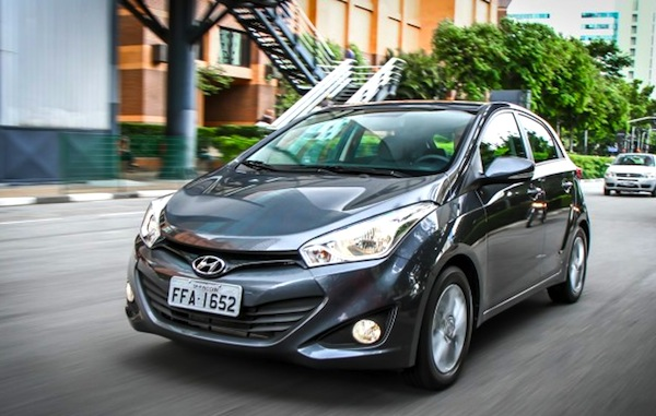 Hyundai HB20 Brazil April 2015. Picture courtesy of CarPlace