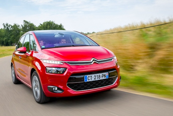Citroen C4 Picasso Europe February 2014. Picture courtesy of largus,fr