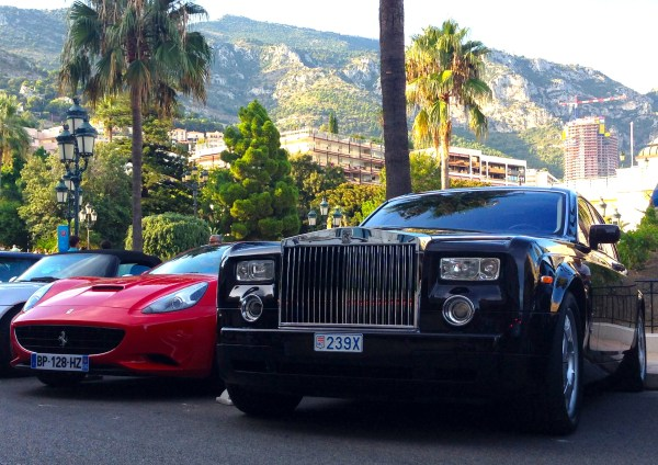 Ferrari California Rolls Royce Phantom Monaco August 2013b