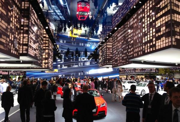 Audi building Frankfurt Auto Show September 2013