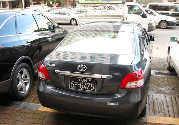Toyota Belta Myanmar 2013. Picture courtesy of Phoe Thar Aung