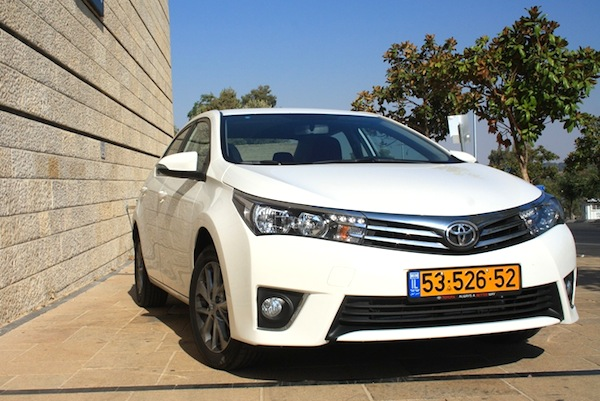 Toyota Corolla Israel 2014. Picture courtesy of icar.co.il
