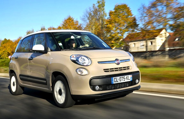 Fiat 500L Europe 2013. Picture courtesy of largus.fr