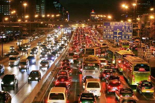 China traffic jam. Picture by National Geographic