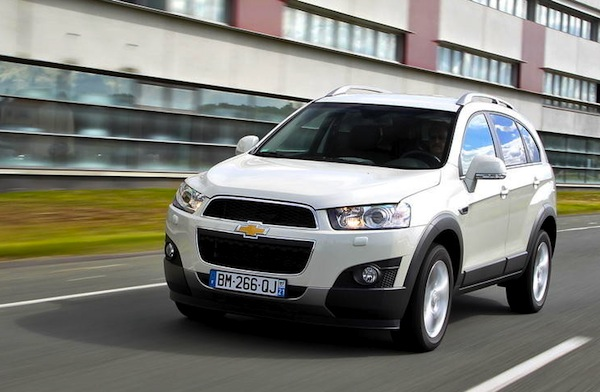 Chevrolet Captiva Iceland March 2014. Picture courtesy of largus.fr