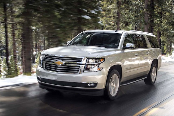 Chevrolet Suburban USA April 2014. Picture courtesy of motortrend.com
