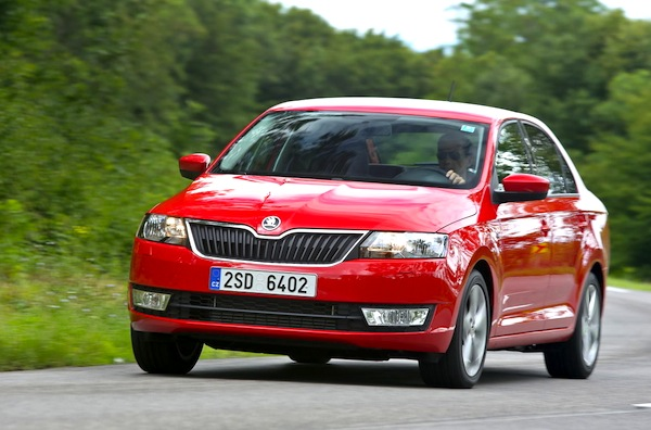 Skoda Rapid Romania February 2015. Picture courtesy of largus.fr