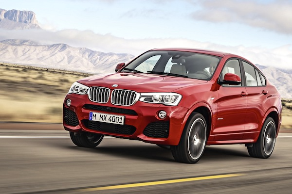 BMW X4 Portugal January 2015. Picture courtesy of largus.fr