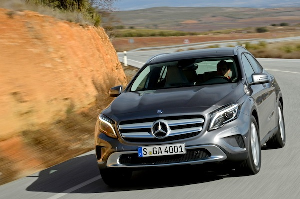 Mercedes GLA Czech Republic May 2014. Picture courtesy of largus.fr