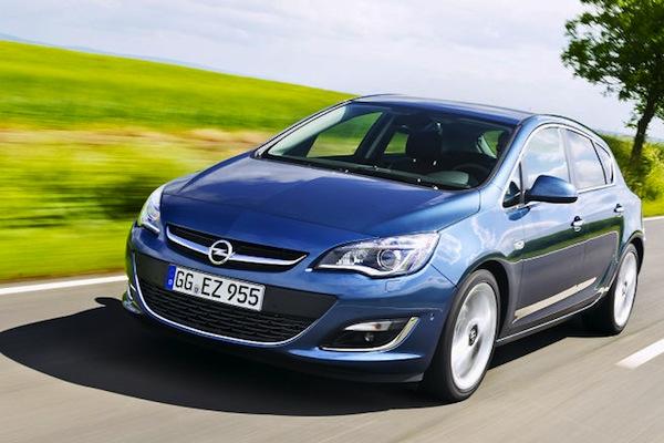 Opel Astra Bosnia March 2015. Picture courtesy of autobild.de