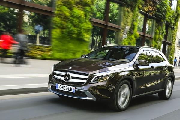 Mercedes GLA Swizterland June 2014. Picture courtesy of largus.fr
