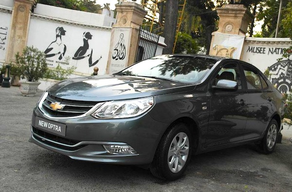 Chevrolet Optra Egypt July 2014. Picture courtesy of indianautosblog.com