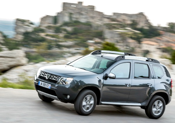 Dacia Duster Ireland August 2014. Picture courtesy of largus.fr