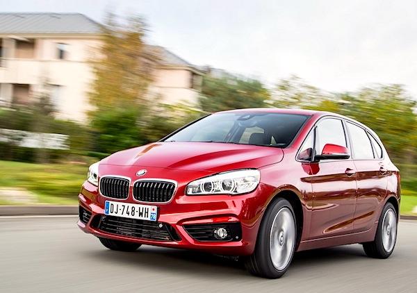 BMW 2 Series Active Tourer Switzerland June 2015. Picture courtesy of largus.fr