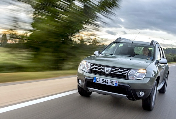 Dacia Duster Estonia April 2015. Picture courtesy of largus.fr
