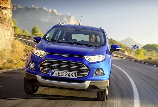 Ford Ecosport Italy Julu 2015. Picture courtesy of largus.fr