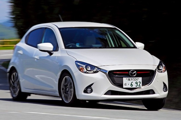 Mazda Demio Japan March 2015. Picture courtesy of autocar.jp