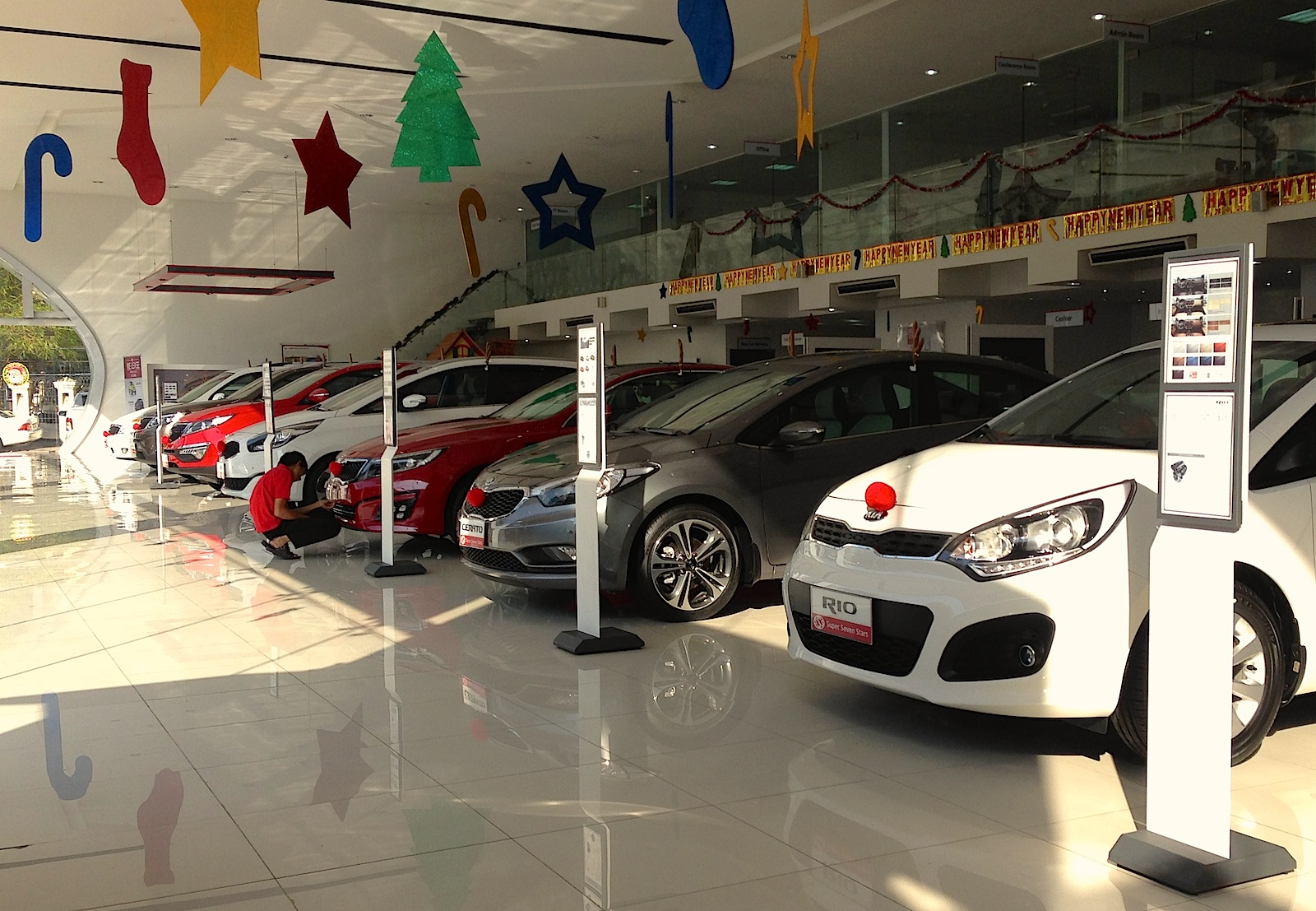 christmas decorations for car showrooms myanmar photo reports the new car showrooms of