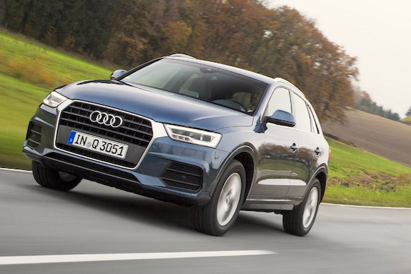 Audi Q3 Italy January 2016. Picture courtesy largus.fr