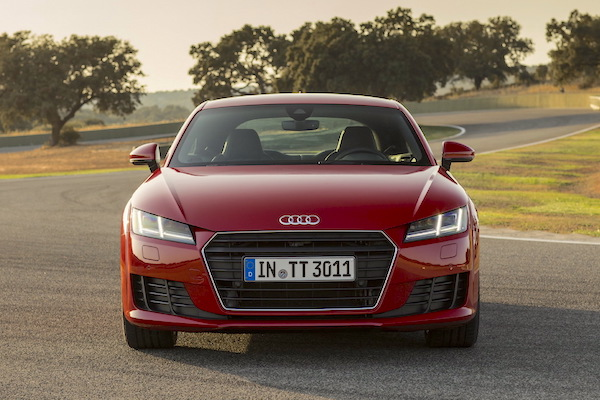 Audi TT Sweden January 2015. Picture courtesy largus.fr