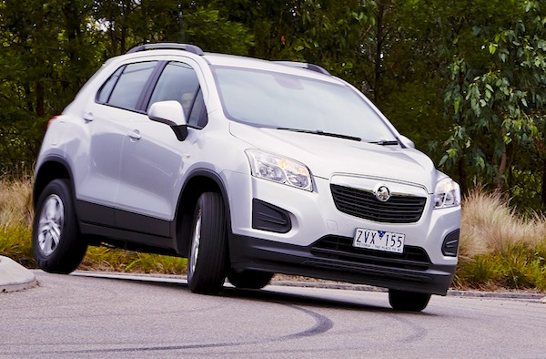 Holden Trax New Zealand January 2015. Picture courtesy caradvice.com.au