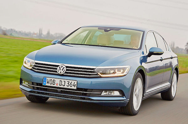 VW Passat Bosnia April 2015. Picture courtesy autobild.de