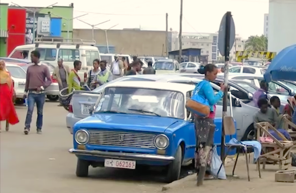 Addis Ababa street scene