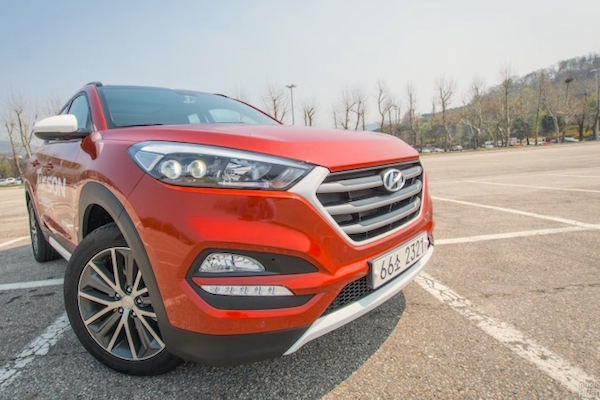 Hyundai Tucson South Korea April 2015. Picture courtesy visualdrive.co.kr