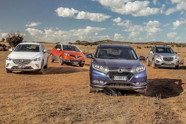 Small SUV Australia April 2015. Picture courtesy drive.com.au