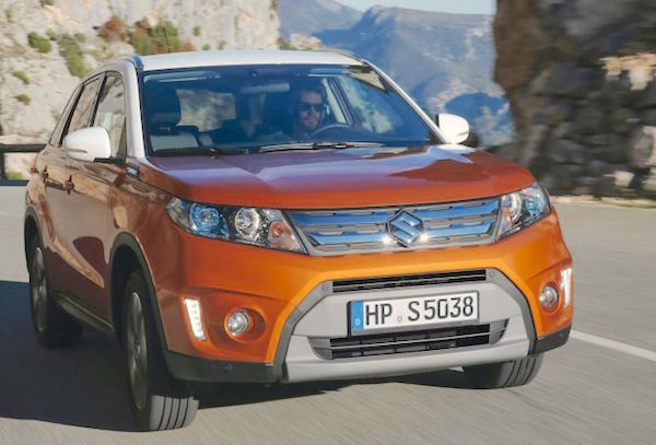 Suzuki Vitara Hungary April 2015. Picture courtesy vezess.hu