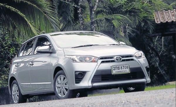 Toyota Yaris Thailand March 2015. Picture courtesy autoevolution.com