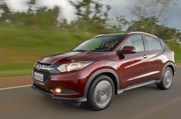 Honda HR-V Brazil May 2015. Picture courtesy shopcar.com.br