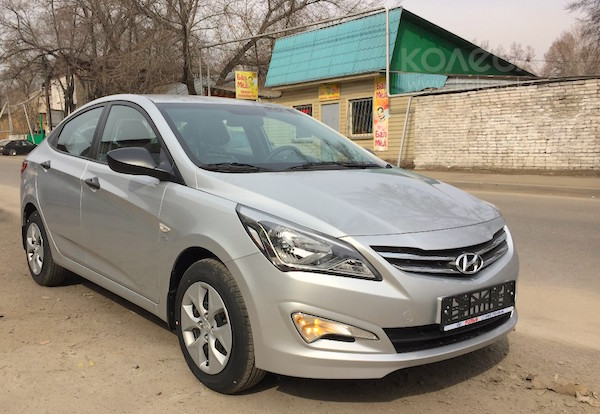 Hyundai Accent Kazakhstan June 2015. Picture courtesy kolesa.kz