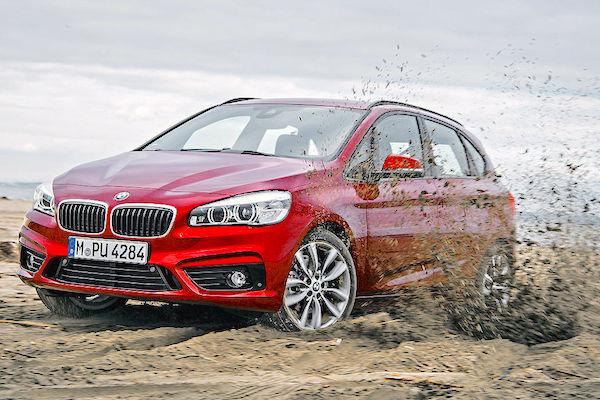 BMW 2 Series Active Tourer Germany July 2015. Picture courtesy autobild.de