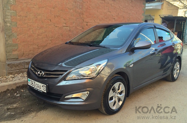 Hyundai Accent Kazakhstan July 2015. Picture courtesy kolesa.kz