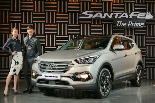 Hyundai Santa Fe Souyth Korea July 2015. Picture courtesy tistory.com