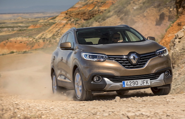 Renault Kadjar Italy October 2015. Picture courtesy largus.fr