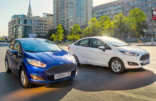 Ford Fiesta Russia August 2015. Picture courtesy zr.ru