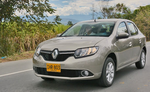 Renault Logan Colombia March 2016