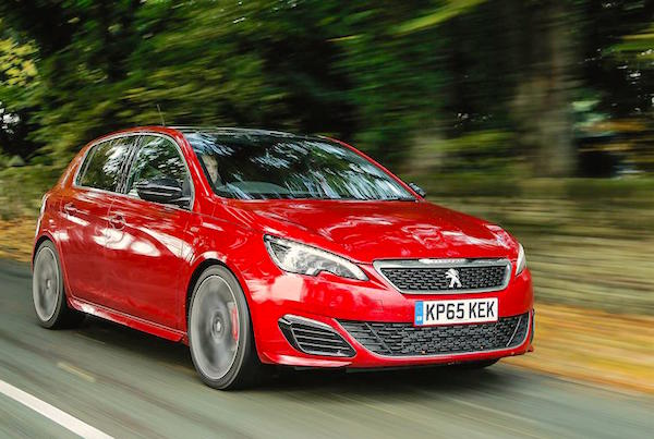 Peugeot 308 GTi Europe November 2015. Picture courtesy whatcar.com