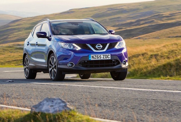 Nissan Qashqai UK January 2016. Picture courtesy autoexpress.co.uk