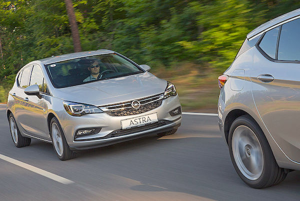 Opel Astra Europe January 2016. Picture courtesy autobild.de