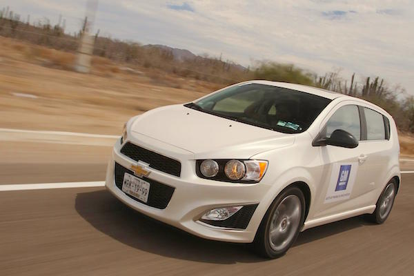 Chevrolet Sonic Mexico February 2016. Picture courtesy autocosmos.com.mx
